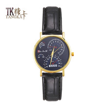 New The leisure fashion lovers Watch Man-made leather strap