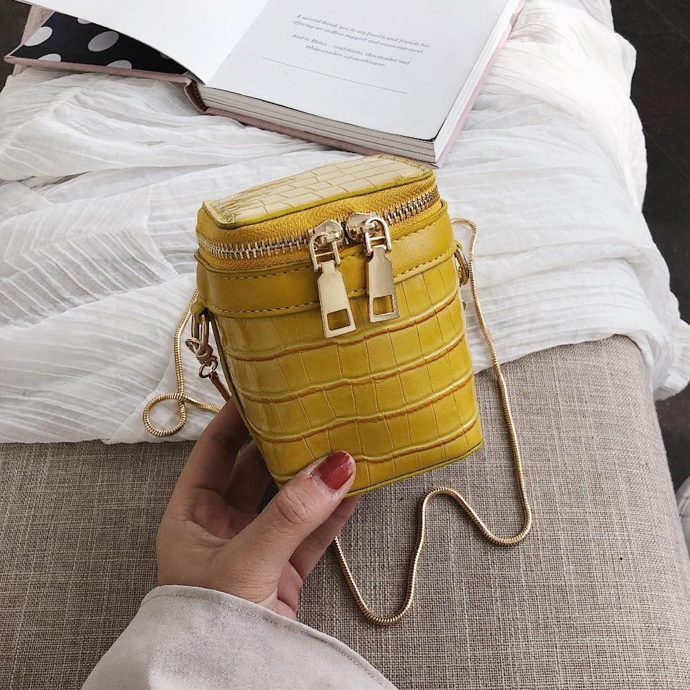2c128e864441 Мини сумки через плечо для женщин 2019 обувь девочек кошельки и мода камень  узор из искусственной