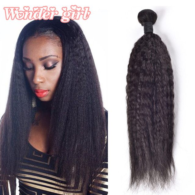 Indian Kinky Straight Hair Weave 3 Bundles 7a Indian Remy Hair