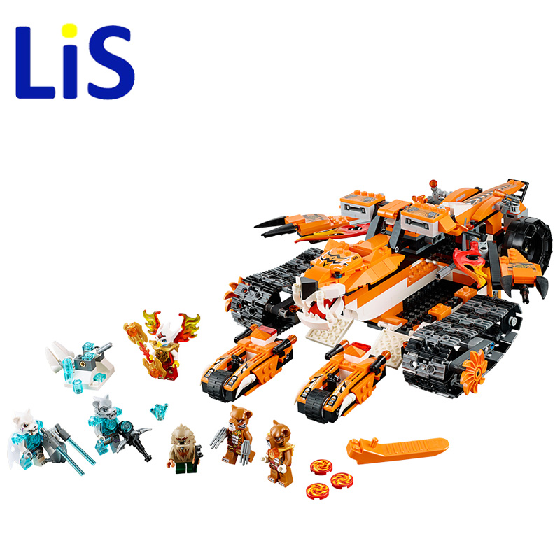 Lis Bela 10357 Chimaed Building Blocks Sets Chimaed Tiger's Mobile Command Block Kids Bricks Toys Compatible with Lepin 70224