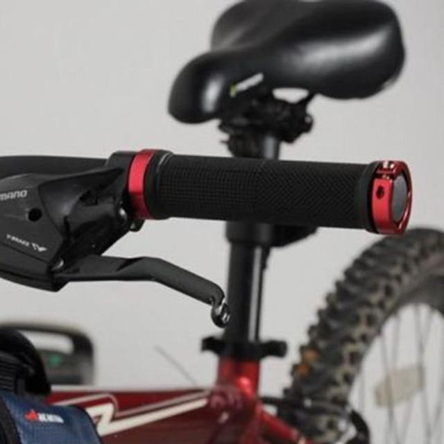 1 pair MTB BMX Road Cycling Handlebar Grips Anti-Skid Rubber Bicycle Grips Mountain Bike Lock On Bicycle Handlebars End Grips 5