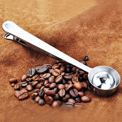 Stainless Steel Coffee Scoop With Clip Measuring 2