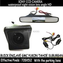 4.3 дюйма Складная TFT ЖК-дисплей автомобиля Мониторы + Wireles Sony CCD Камера заднего вида Парковка Камера для Buick Enclave GMC yukon Tahoe Suburban