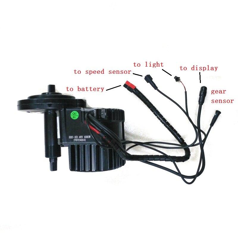 Livraison gratuite US EU pas de taxe Bafang 8Fun BBSHD moteur d'entraînement moyen 48 V 1000 W 46 T/42 T Kits de roue à chaîne Ebike avec écran LCD 850C
