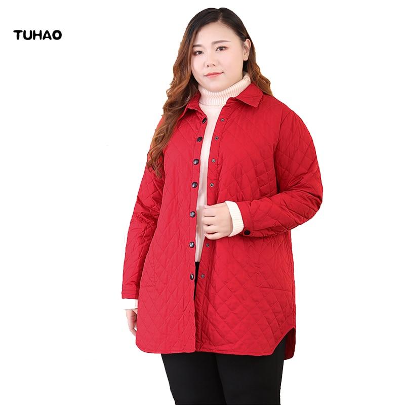 TUHAO Office Lady Autumn Winter 2019 Parkas Jackets Female Women Plus Size 10XL 9XL 8XL Coats SUATANS Jacket Womens Outwear MSFS