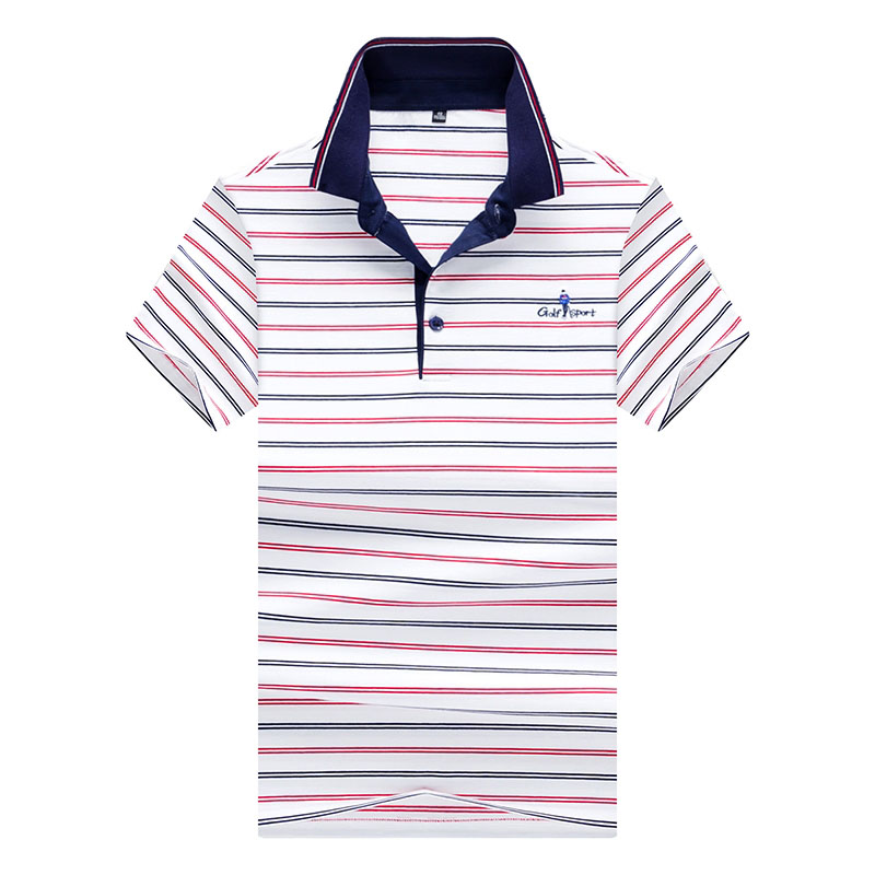 New Men   Polo   Shirt Short Sleeve 2018 Summer Designer Male Striped Embroidery Casaul   Polos   Men Lapel Top Tees Plus Size 3XL