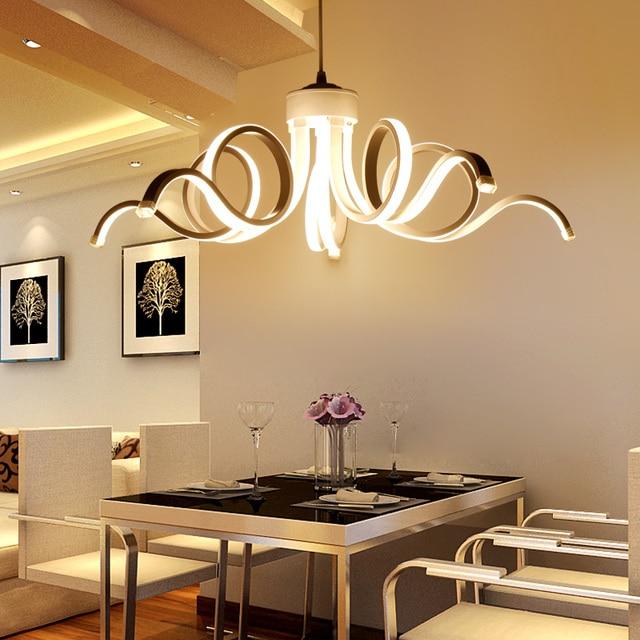 Moderna l mpara led blanco acr lico flor gota colgante l mpara para comedor led lamparas lustres - Lampara de comedor colgante ...