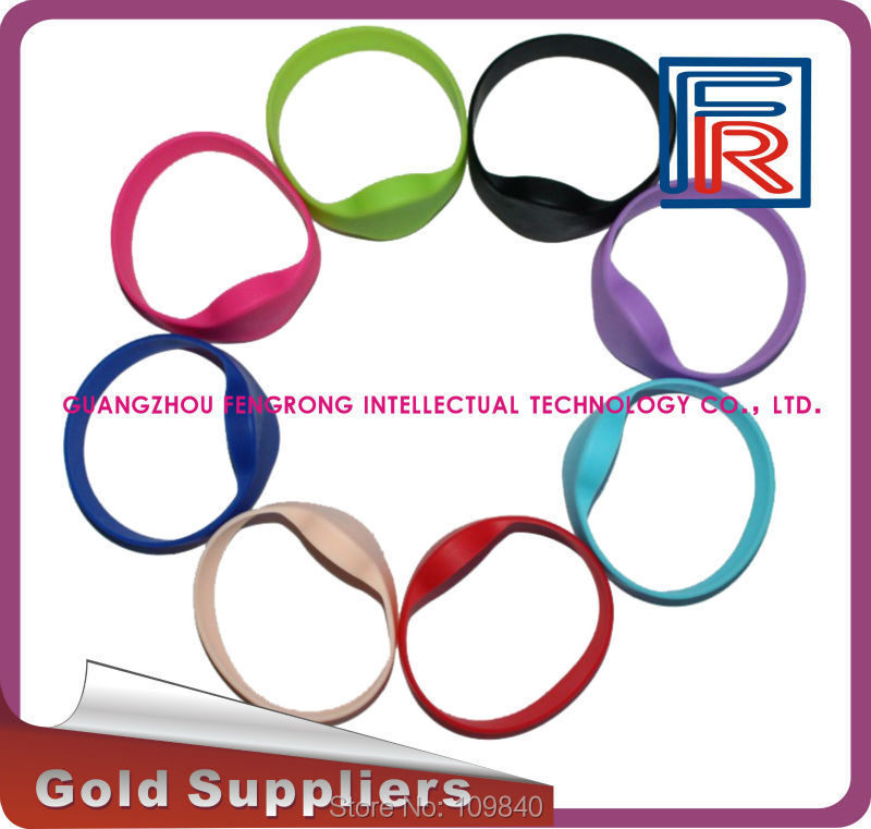 100pcs RFID wristband with 125khz compitable EM4100 chip,Read-only waterproof bracelet for SPA/Fitness/Sauna/Access control