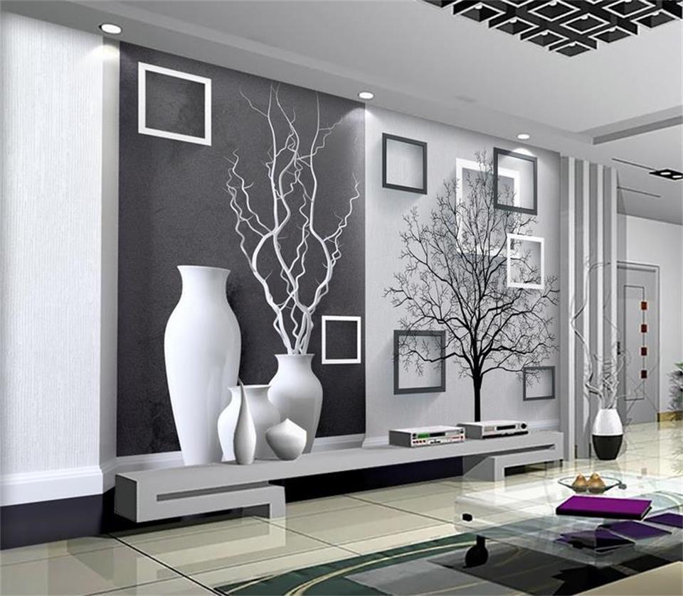3d wallpaper custom mural non woven photo Modern Art black ...