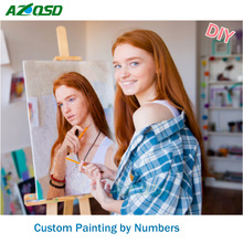 Personality Photo Customized DIY Oil Paint Paintings By Numbers Picture Drawing by Numbers Canvas Coloring by Numbers Acrylic(China)
