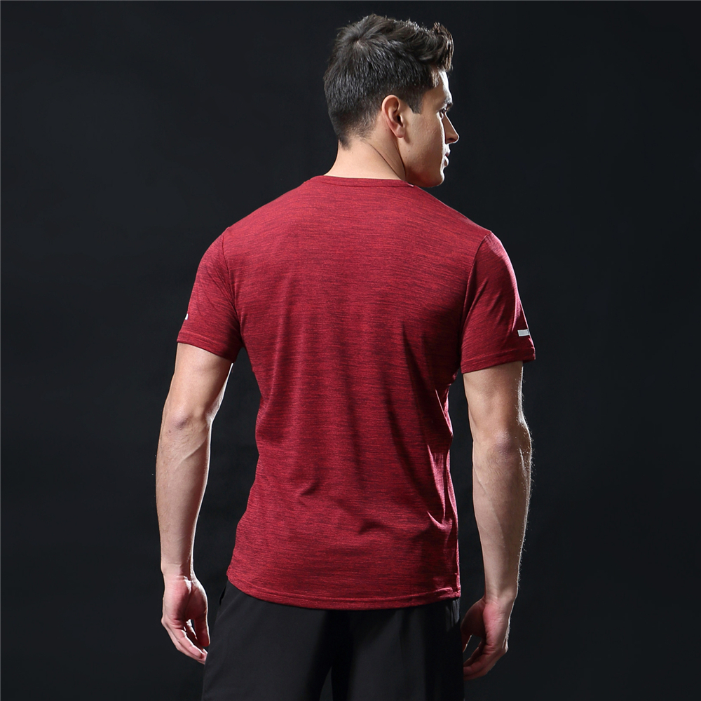 GANYANR Running T Shirt Men Basketball Tennis Sportswear Tee Sport Fitness Gym Jogging Tops Slim Fit quick dry Exercise Training 21