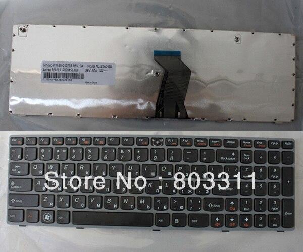 Laptop keyboards for Lenovo Ideapad Z560 Z560A Z565 Z565A RU Black with gary frame laptop keyboard