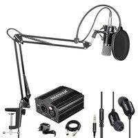 Neewer NW 700 Condensador Microfone e Fone de ouvido do Monitor Kit Inclui 48 V Phantom Power Supply  NW 35 Lança Scissor Braço Do Suporte|Acessórios de microfone| |  -
