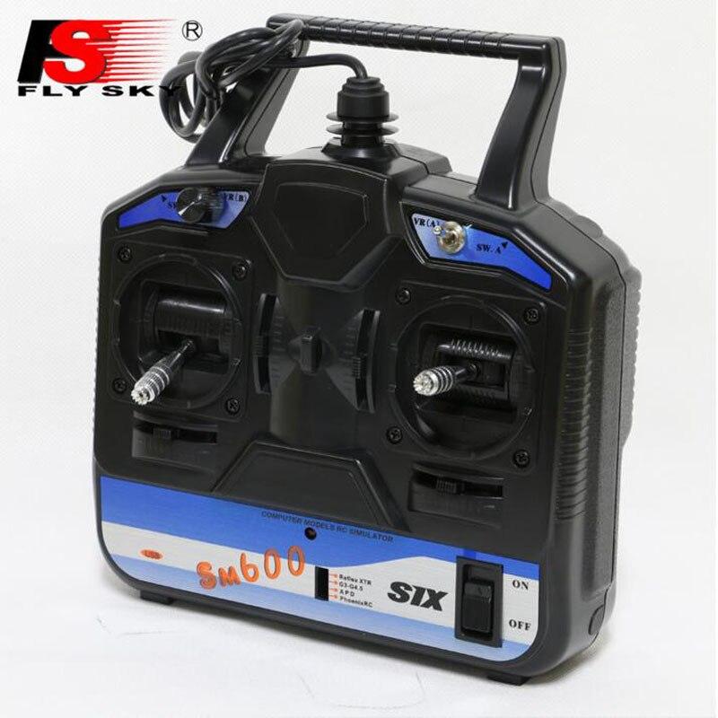 Simulador RC SM600 Flysky FS 6CH SM600 Simulator apoyo G6 G7 XTR FMS para 3D helicóptero avión Gilder Fix- ala