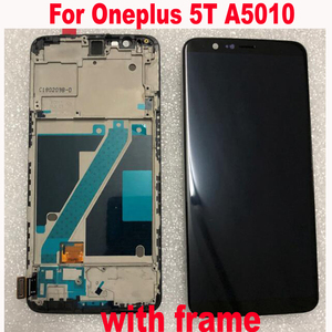Image 2 - Original Best Working Sensor For Oneplus 5T A5010 1+5T Super Amoled LCD screen display touch panel digitizer assembly with frame
