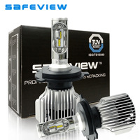 SaFEVIEW 2 Pcs Auto H4 LED H7 H11 H8 H9 Car Headlight Bulbs 72W 8000LM Automobiles