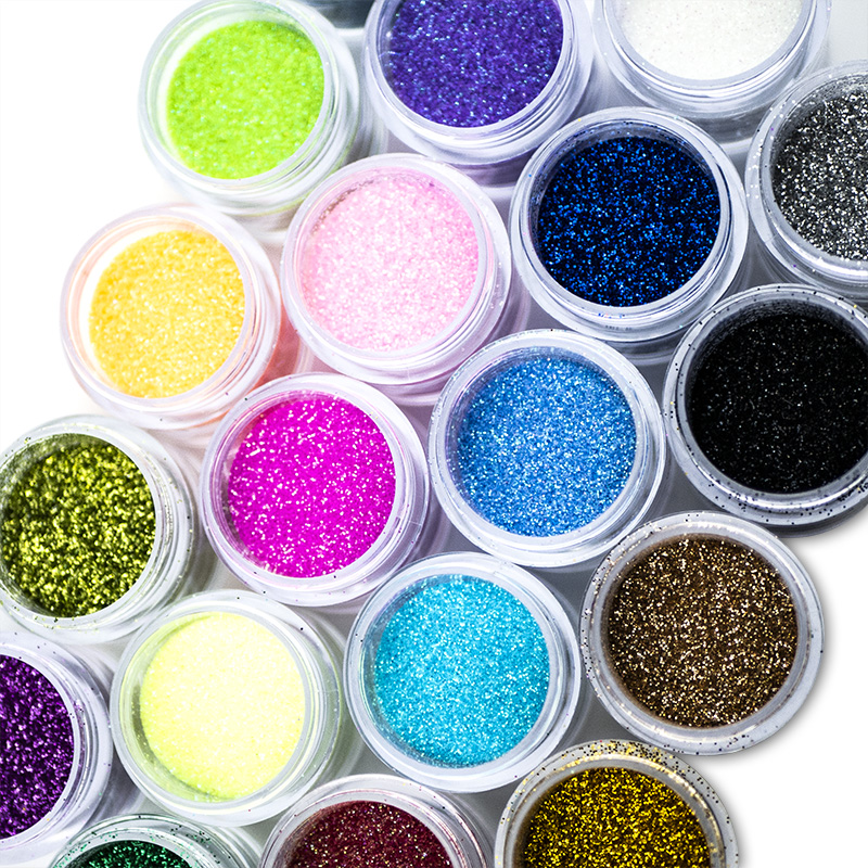 10g Dipping Powder 24 Colors Nail Glitter Pigment Powder Put Fingers into the Sparkly Nail Art Glitter Manicure Decoration NAK
