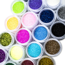10g Dipping Powder 24 Colors Nail Glitter Pigment Put Fingers into the Sparkly Art Manicure Decoration NAK