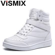 Vismix 2017 Демисезонный Ботильоны Каблучки Обувь женская повседневная обувь с высоким берцем Обувь смешанные Цвет зимние сапоги