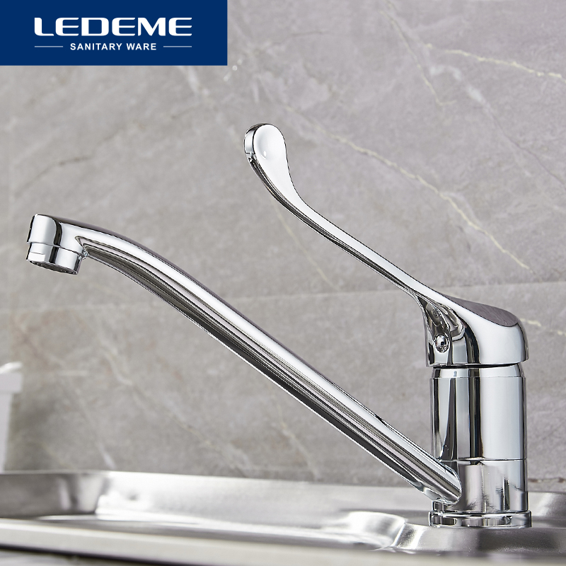 LEDEME High Quality Faucet Brass Kitchen Mixer Cold And Hot Single Handle Kitchen Water Tap  Kitchen Thermostatic Faucets L4979