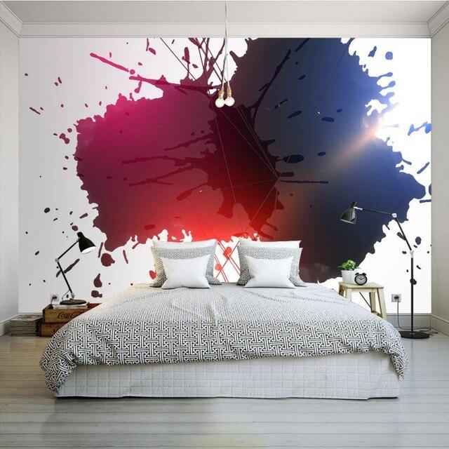 Benutzerdefinierte Tapete Modernen Minimalistischen Farbe Wasserfarbe Tapete  Schlafzimmer Wohnzimmer Restaurant Studio Büro Galerie Wandbild