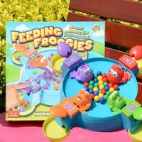 Feeding Frog Board Game Children's Parent child Interaction Kids Brain Action Early Childhood Educational Toys.