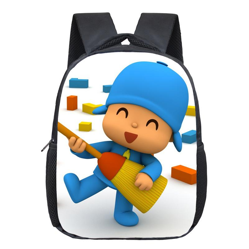 12 Inch POCOYO Elly Pato Loula Kindergarten Backpack Boys Girls Children School Bags Baby Toddler Bag Kids Best Gift Backpack