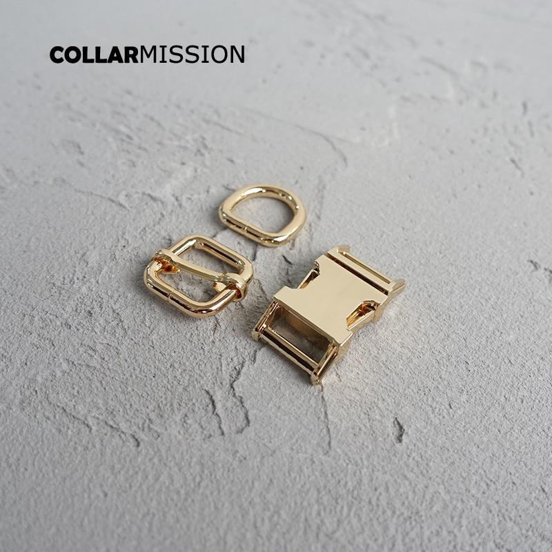 20 stks/partij 15mm Metal Plated Gesp (Metalen Gesp + Passen Gesp + D Ring/set) voor Rugzak Tas Kat Halsband DIY Accessorys-in Gespen & Haken van Huis & Tuin op  Groep 2