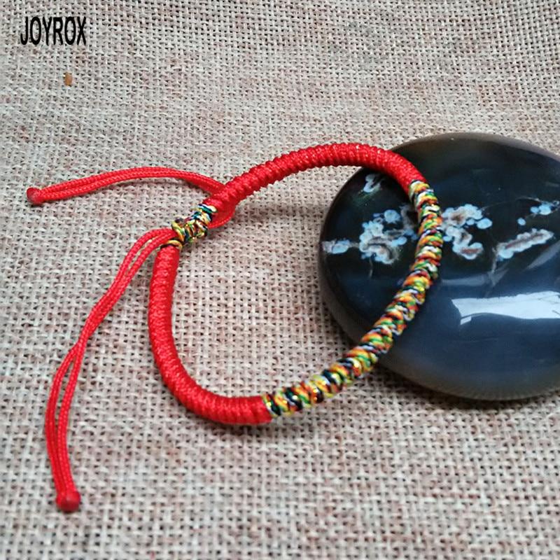 b56f581200a23 JOYROX Multi Color Adjustable Tibetan Buddhist Couple Bracelet For Women  Men Charm Handmade Knot Lucky Red Rope Bracelet Jewelry