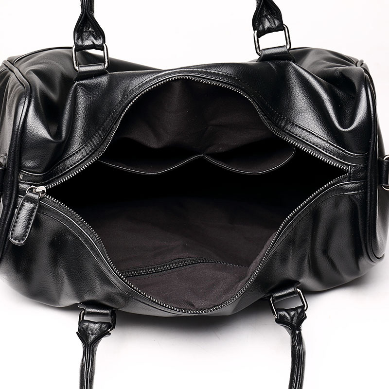 de moda couro rachado da Man Travel Tote Big : High Quality Split Leather Men's Travel Bag Cheap