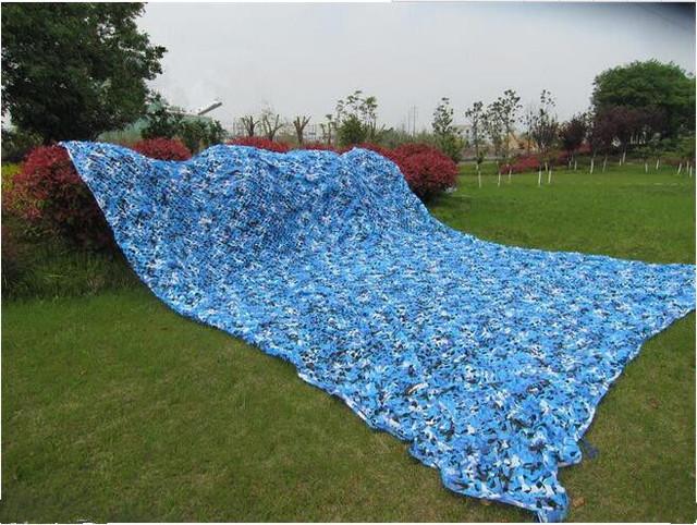 2 M * 10 M azul filé de proteção rede de camuflagem camo Compensação para militar shelter camping abrigo dossel ao ar livre piscina cobre