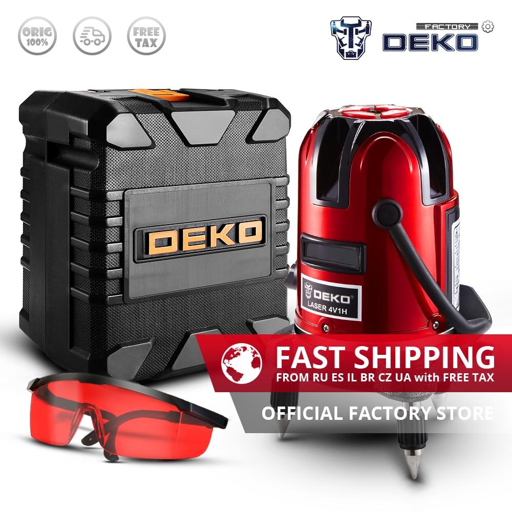 Factory Outlet DEKO LL5 Series 5 Lines 6 Points Vertical Horizontal Self leveling Laser Level 360