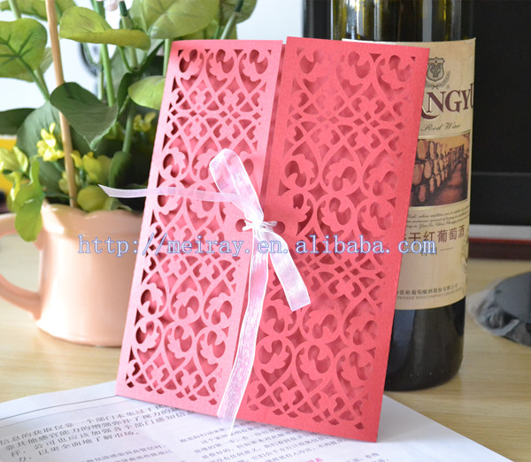 200pcslot wedding invitations black white and red red filigree – Black White and Pink Wedding Invitations