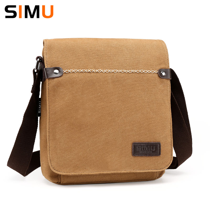 Simu Men Message Bag Leisure Canvas Male