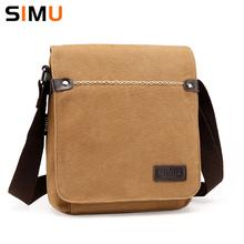 Simu Men Message Bag Leisure Canvas Male Shoulder Bag 2017 New Crossbody Bags 24*8*26cm