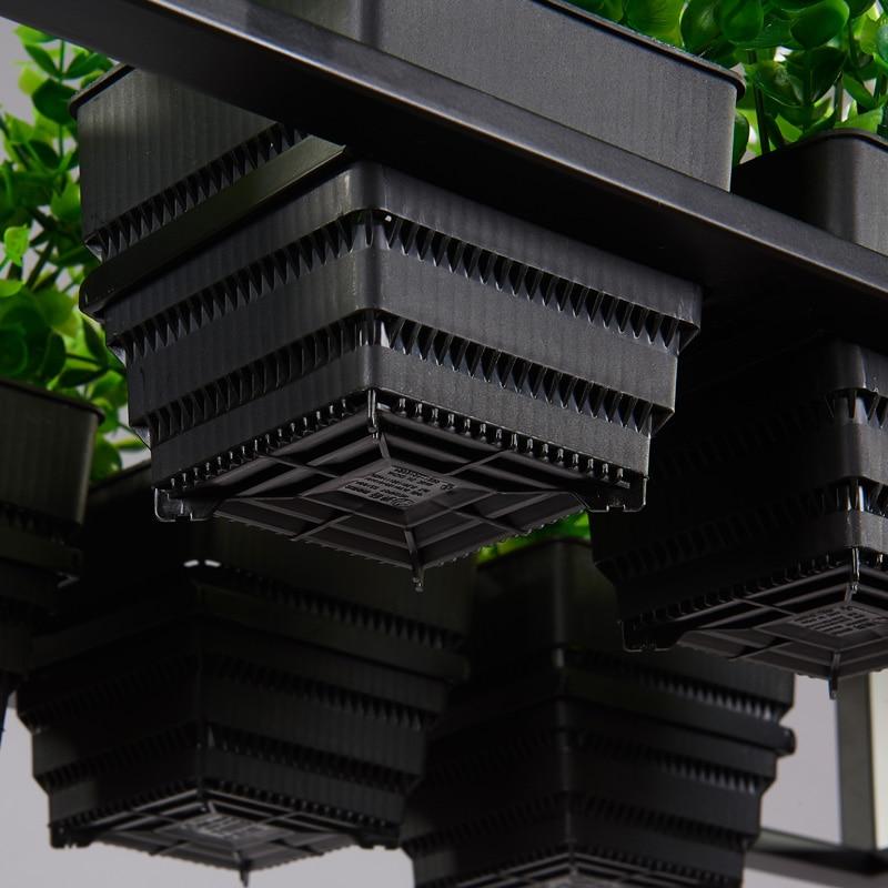 Nordic retro personalized plant black iron metal box pendant light shop bar restaurant lamp