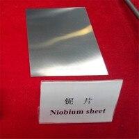 Niobium Plate ASTM B392 Niobium Sheet 3mm 1000mm 2000mm Nb Content 99 95 Free Shipping