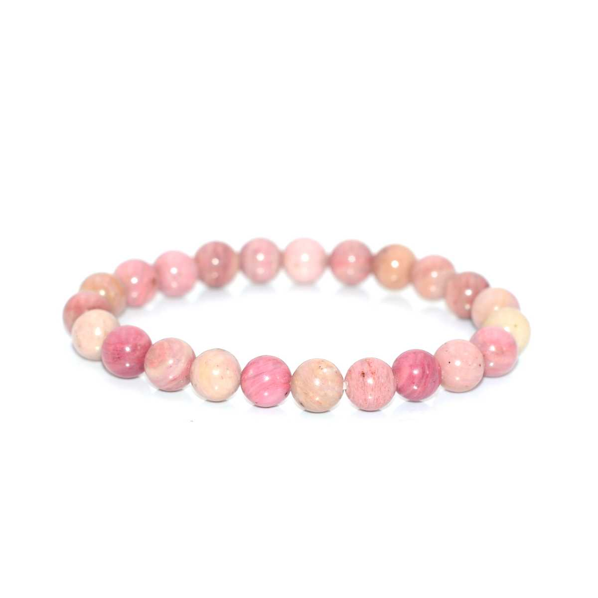 Natural Semi-precious Stone Pink Rhodonite Strands Bracelet for Women