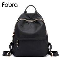 Fabra New Women Waterproof Nylon Backpacks Travel Bags Student School Bag Girl Backpack Casual Travel Small