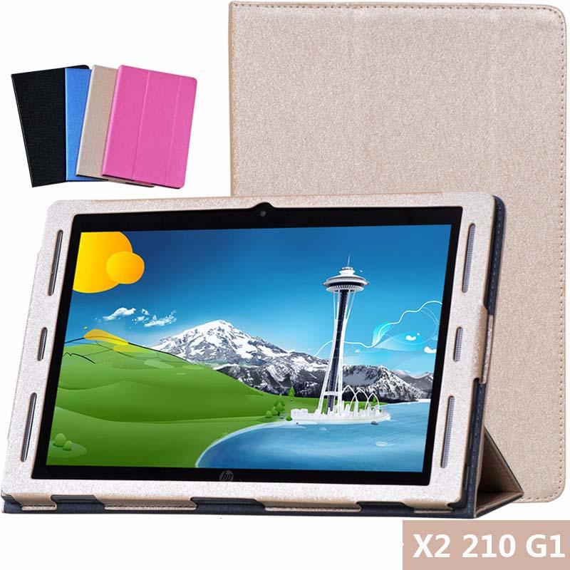 Luxury Silk Korn-intelligente PU Leder Haut Fall Für HP X2 210 G1n121tu 10,1