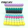 25pc Silicone Beads for Jewelry Making Heart/Hexagon/Abacus DIY Baby Teether Teething Neckalce Pendants Pacifier Clips Materials