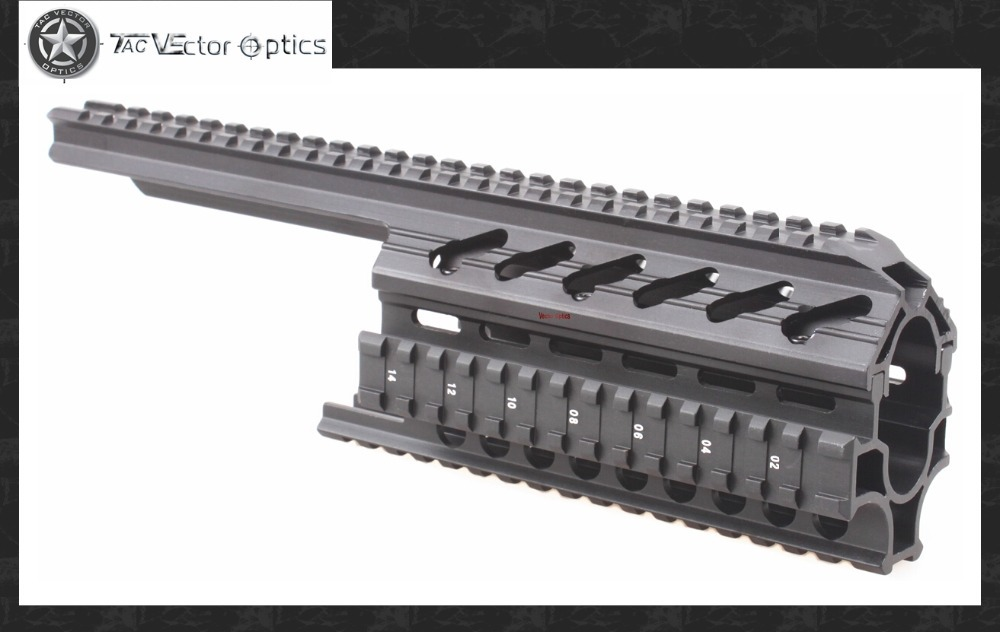 Vector Optics Galil Golani 2-Piece Handguard Quad Rail 1913 Picatinny Scope Mount System Fits Century Aluminum Black