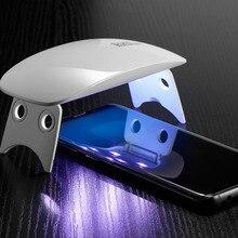2PCS Volledige UV Lijm Gehard Glas Screen Protector Voor Samsung Galaxy Note 9 10 Pro Case Vriendelijke 2pcs glas + 2 stuks Lijm + 1 licht