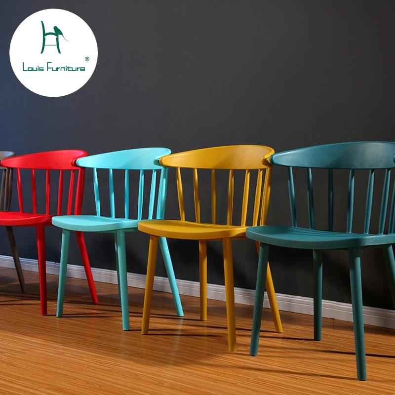 €54.12 |Louis mode attente chaises coloré loisirs accoudoir dossier  Designer salle à manger moderne minimaliste café occidental Restaurant  repos-in ...