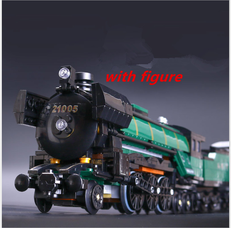 lepin 21005 lepin emerald night Train Compatible legoing trein 10194 legoing emerald night Train Model Building Block Bricks mercier р night train to lisbon