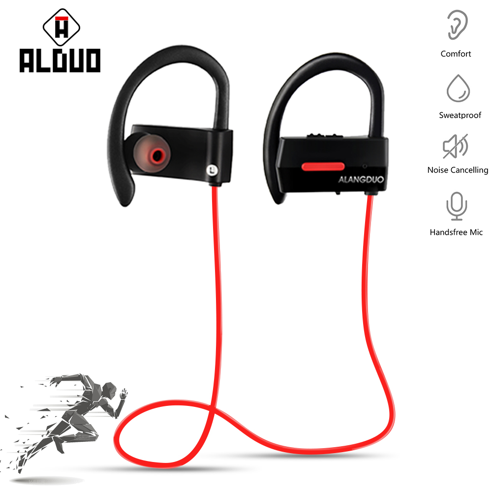 ALANGDUO A1 Wireless Headphone Bluetooth Earphone For Phone Neckband With Mic Sport