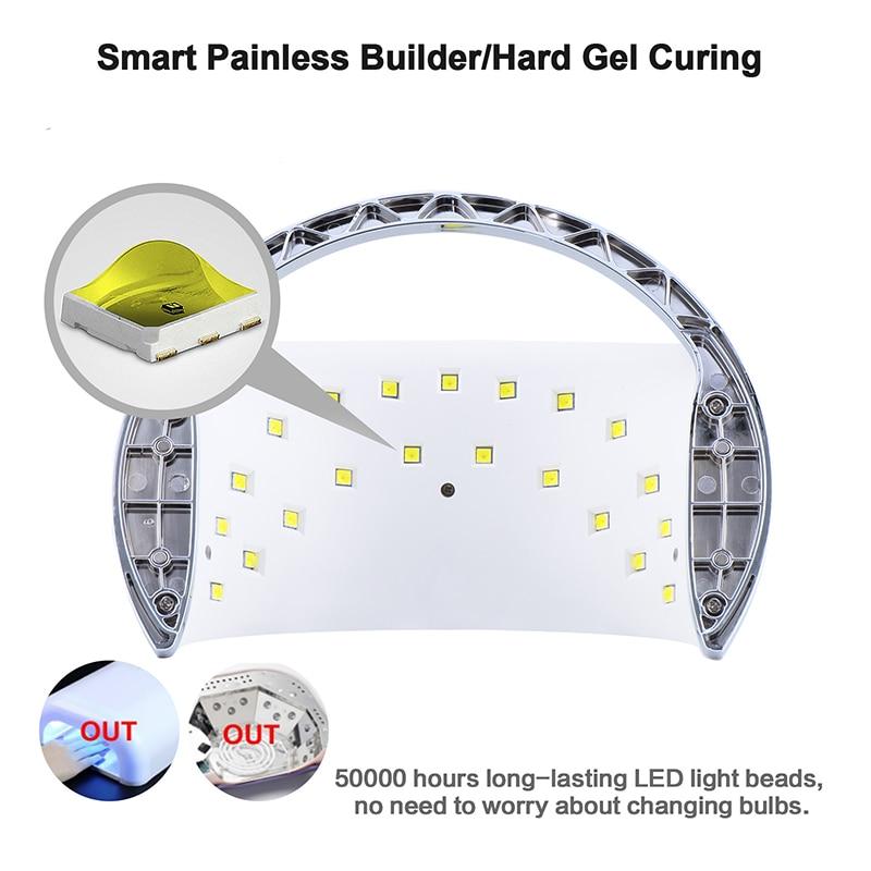 SUNUV SUN6 Smart Lampe Nail led lampe UV Sèche-Métal Fond minuteur lcd Multicolors pour Durcissement UV Gel Vernis À Ongles outils de Nail art - 3