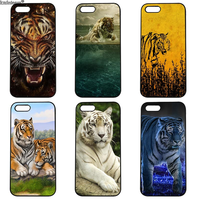 Animal Tiger Cub Fashion Phone Case Hard PC Anti-knock Cover Fitted for iphone 8 7 6 6S Plus X 5S 5C 5 SE 4 4S iPod Touch 4 5 6