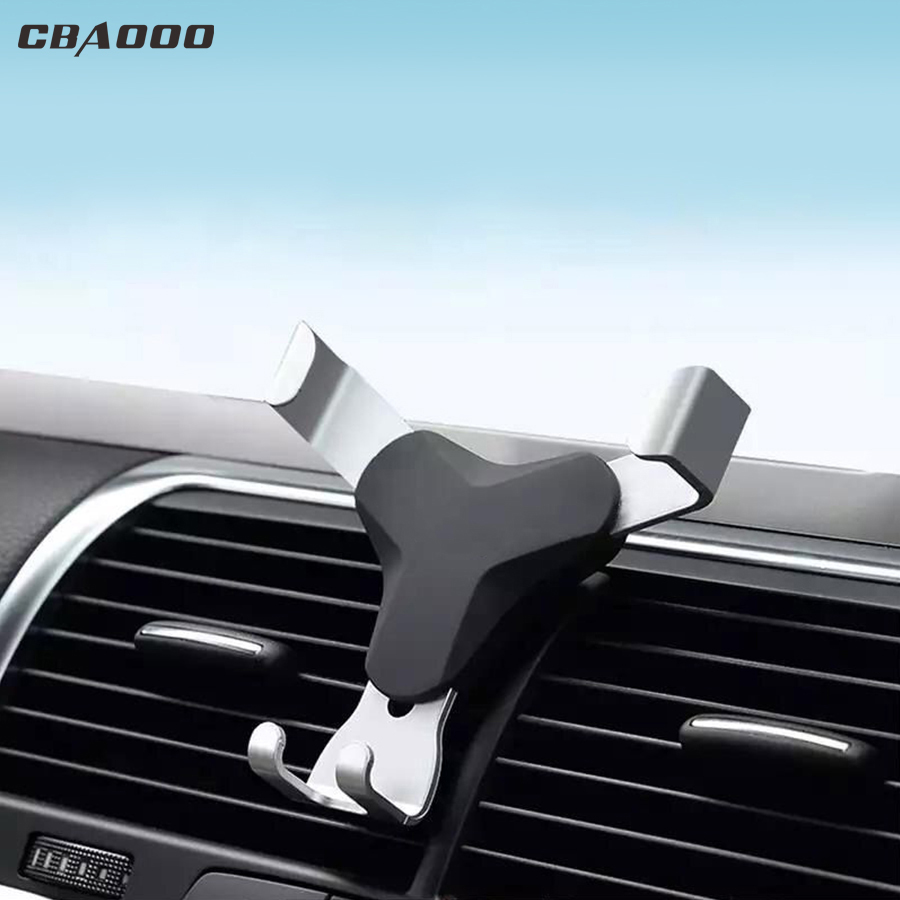 CBAOOO Universal Gravity Car Phone Holder For Phone GPS In Car Air Vent Clip Mount 360 Rotation Mobile Phone Holder Stand