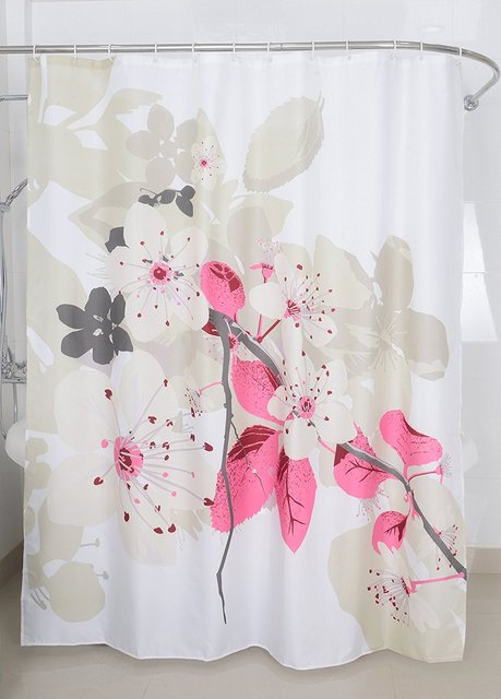Magic Vida Nature Series Decorative Lush Flowers Polyester Shower Curtain 72 X Inch